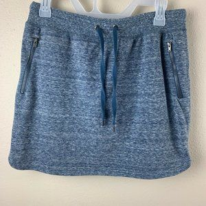 Green Tea Womens Sz L Active Skort Heathered Blue